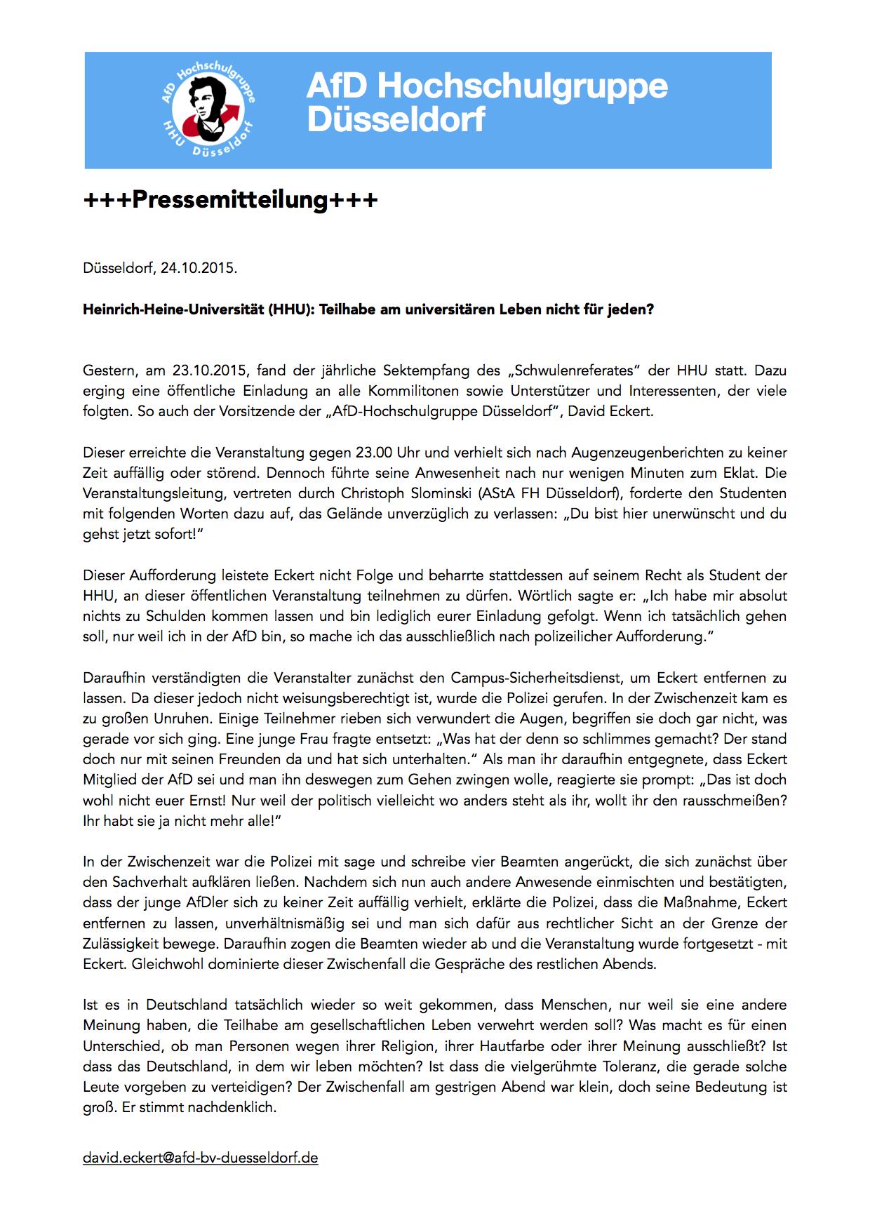 Die Junge Alternative für Deutschland (JA) in Nordrhein-Westfalen ...